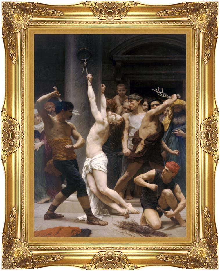 William Bouguereau The Flagellation of Christ with Majestic Gold Frame