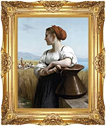 William Bouguereau The Harvester canvas with Majestic Gold frame