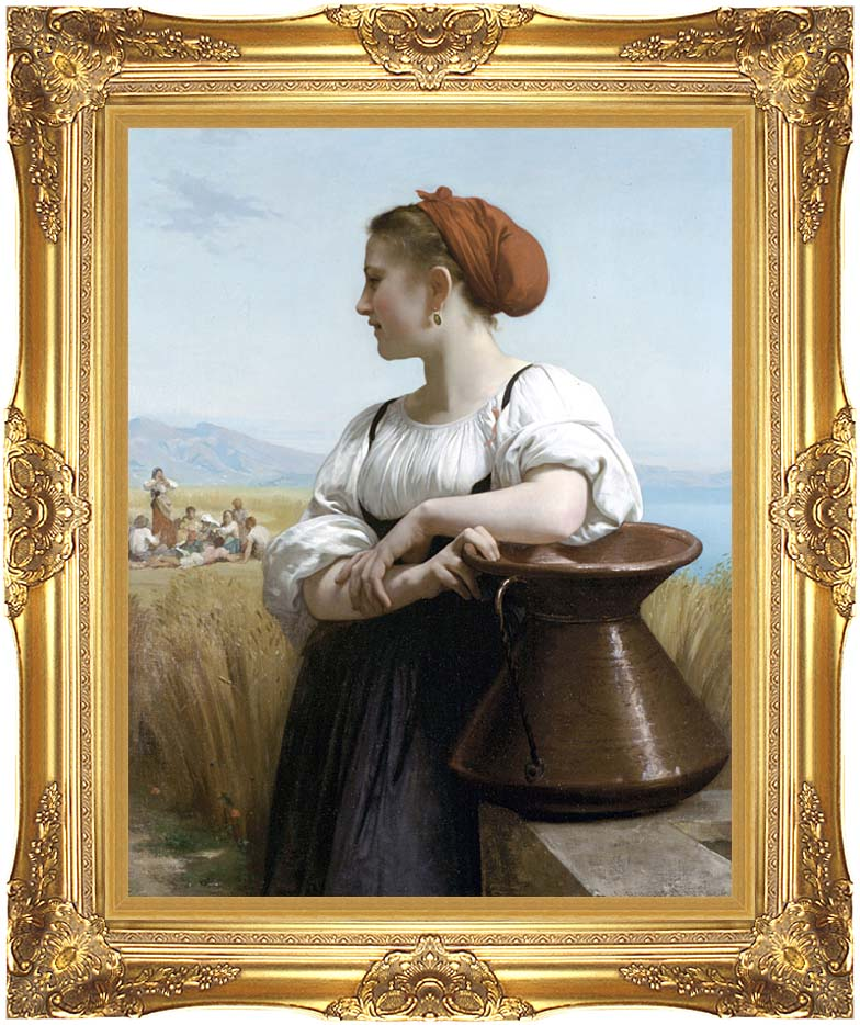 William Bouguereau The Harvester with Majestic Gold Frame