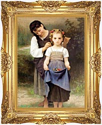 William Bouguereau The Jewel Of The Fields canvas with Majestic Gold frame