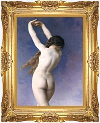 William Bouguereau The Lost Pleiad Detail canvas with Majestic Gold frame