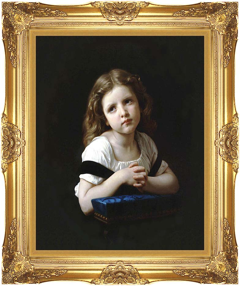William Bouguereau The Prayer with Majestic Gold Frame