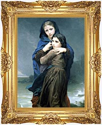 William Bouguereau The Storm canvas with Majestic Gold frame