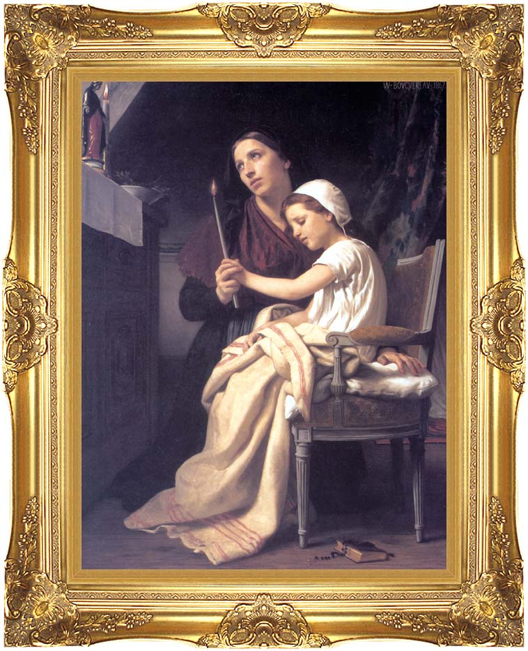 William Bouguereau The Thank Offering with Majestic Gold Frame