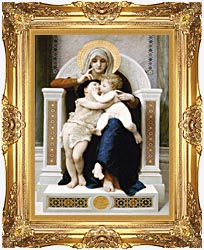 William Bouguereau The Virgin Baby Jesus And Saint John The Baptist canvas with Majestic Gold frame