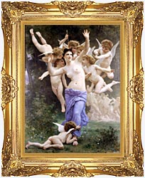 William Bouguereau The Wasps Nest canvas with Majestic Gold frame