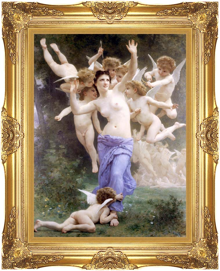 William Bouguereau The Wasp's Nest with Majestic Gold Frame