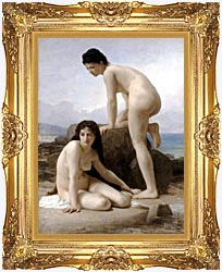 William Bouguereau Two Bathers canvas with Majestic Gold frame