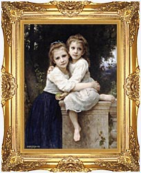William Bouguereau Two Sisters canvas with Majestic Gold frame
