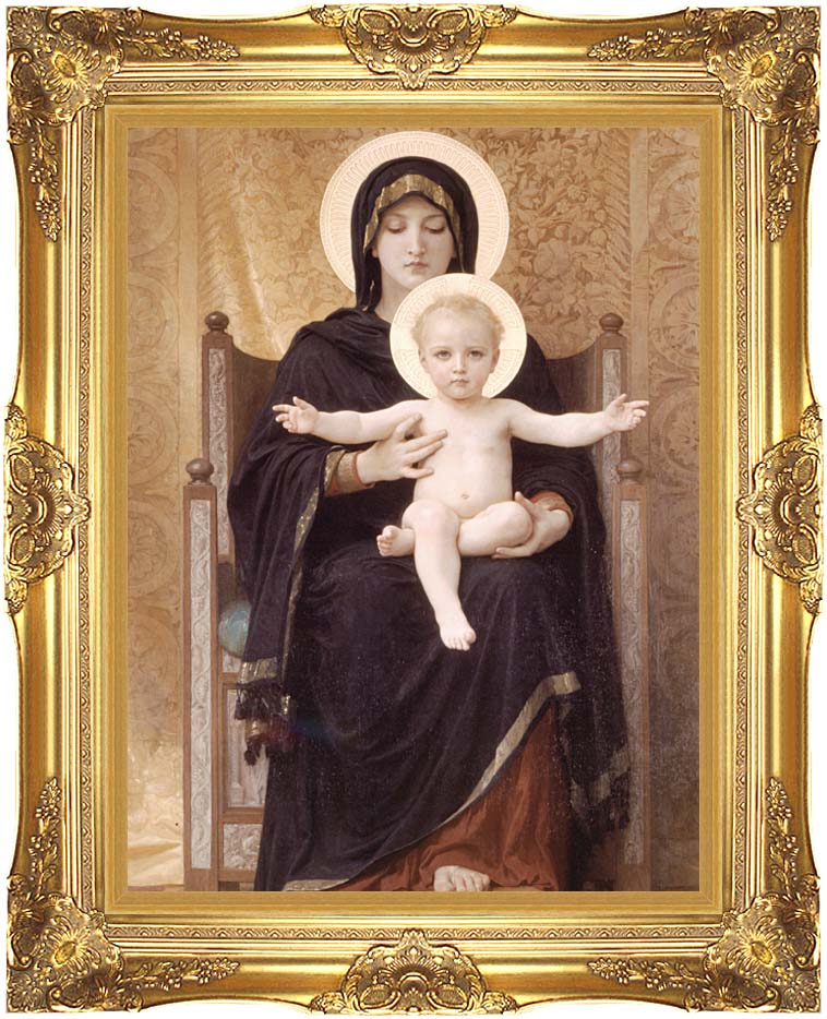 William Bouguereau Virgin and Child with Majestic Gold Frame