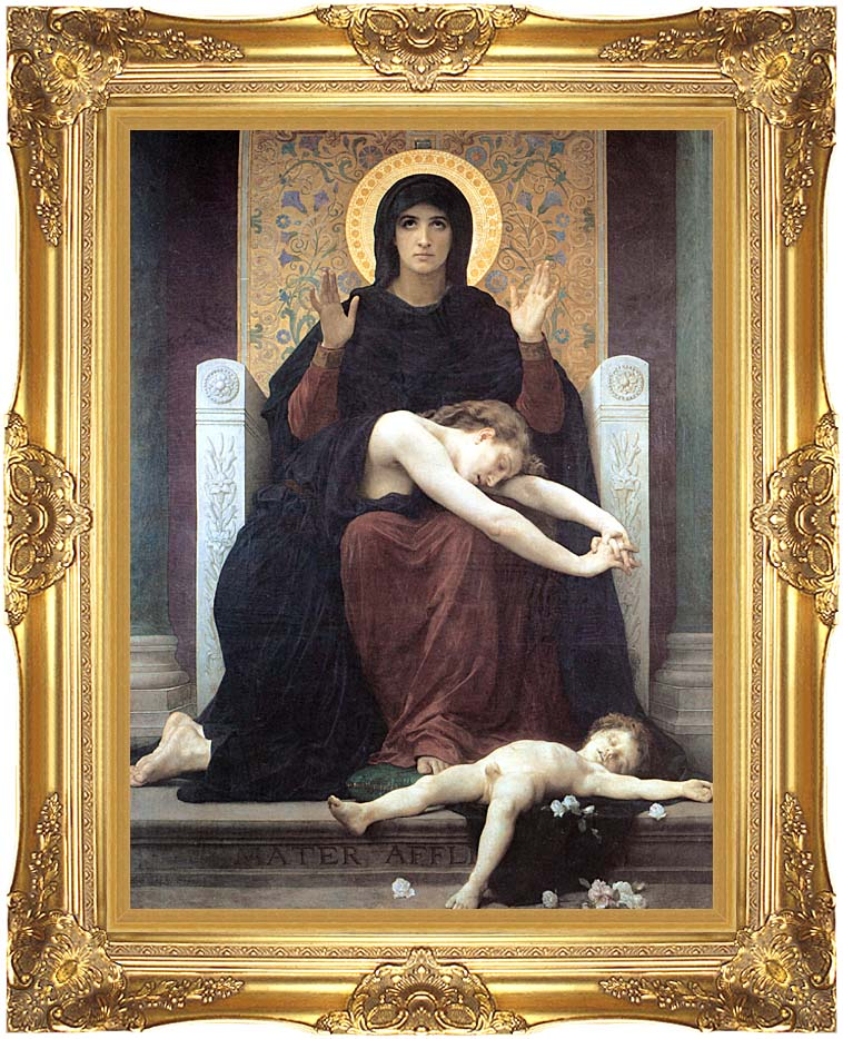 William Bouguereau Virgin of Consolation with Majestic Gold Frame
