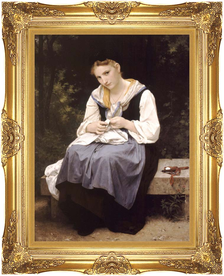 William Bouguereau Young Worker with Majestic Gold Frame