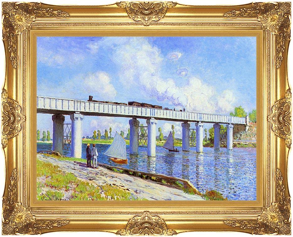 Claude Monet The Railroad Bridge, Argenteuil with Majestic Gold Frame