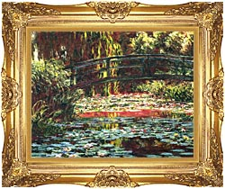 Claude Monet Japanese Foot Bridge At Giverny canvas with Majestic Gold frame