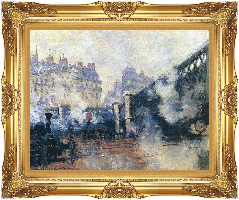 Claude Monet Le Pont de l'Europe 1877 with Majestic Gold Frame