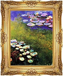 Claude Monet Monet Water Lilies canvas with Majestic Gold frame