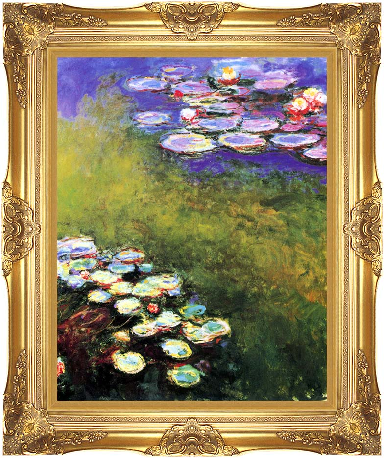Claude Monet Monet Water Lilies with Majestic Gold Frame