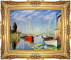 Claude Monet Pleasure Boats At Argenteuil canvas with Majestic Gold frame