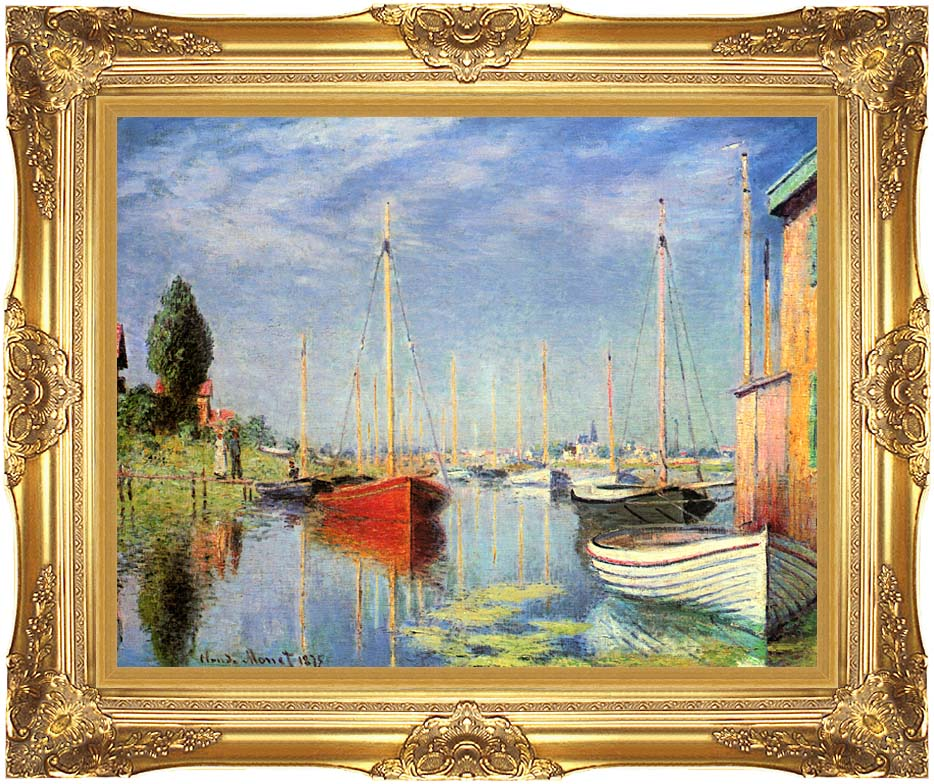 Claude Monet Pleasure Boats at Argenteuil with Majestic Gold Frame