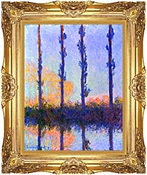 Claude Monet The Poplars canvas with Majestic Gold frame