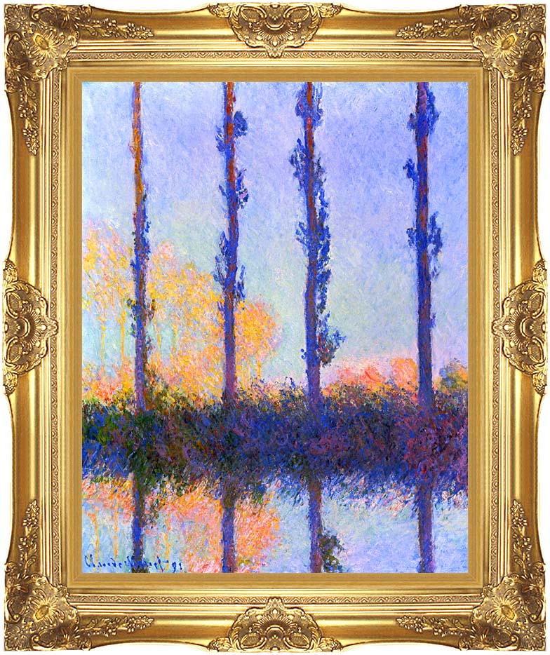 Claude Monet The Poplars with Majestic Gold Frame