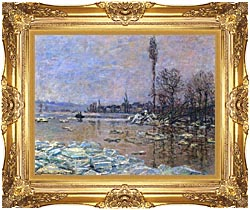 Claude Monet The Ice Floes canvas with Majestic Gold frame