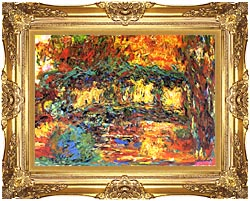 Claude Monet The Japanese Footbridge canvas with Majestic Gold frame