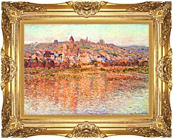 Claude Monet Vetheuil In Summertime canvas with Majestic Gold frame