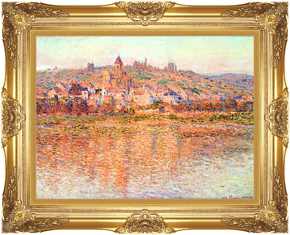 Claude Monet Vetheuil in Summertime with Majestic Gold Frame