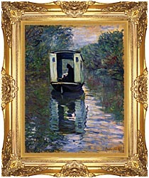 Claude Monet The Boat Studio canvas with Majestic Gold frame