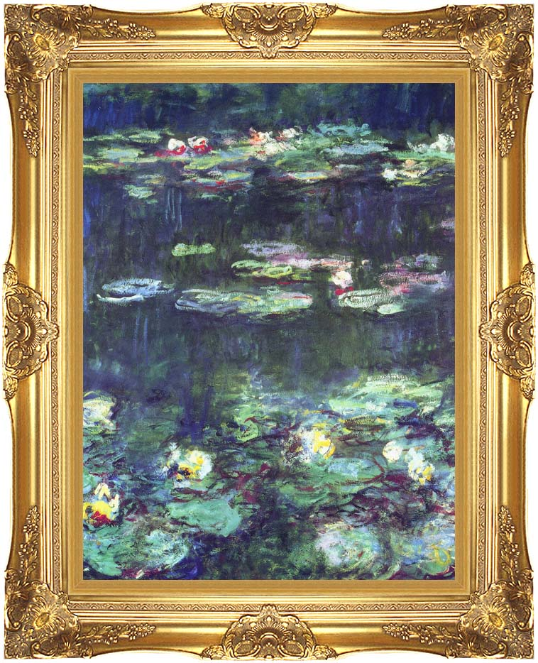 Claude Monet Green Reflection (detail) with Majestic Gold Frame