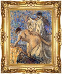 Edgar Degas After The Bath Pastel canvas with Majestic Gold frame