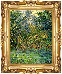 Claude Monet Under The Lemon Trees Bordighera canvas with Majestic Gold frame