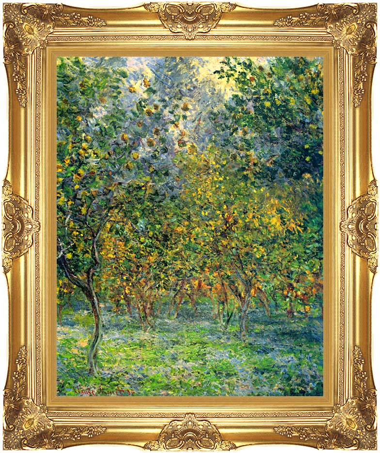 Claude Monet Under the Lemon Trees, Bordighera with Majestic Gold Frame