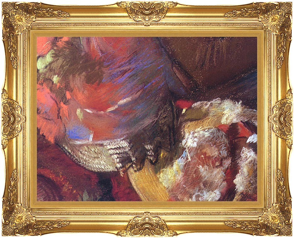Edgar Degas At the Milliner's (detail) with Majestic Gold Frame