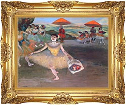Edgar Degas Ballerina With A Bouquet Of Flowers canvas with Majestic Gold frame