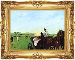Edgar Degas Carriage At The Races canvas with Majestic Gold frame