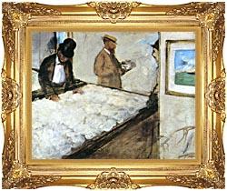 Edgar Degas Cotton Merchants canvas with Majestic Gold frame