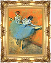 Edgar Degas Dancers At The Barre canvas with Majestic Gold frame