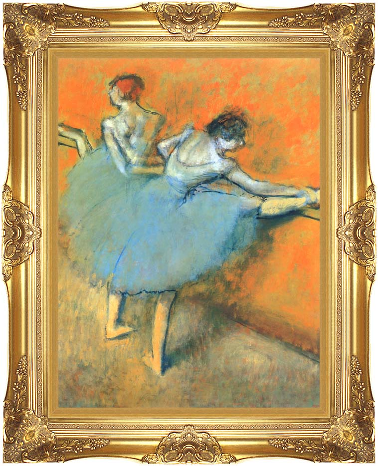 Edgar Degas Dancers at the Barre with Majestic Gold Frame