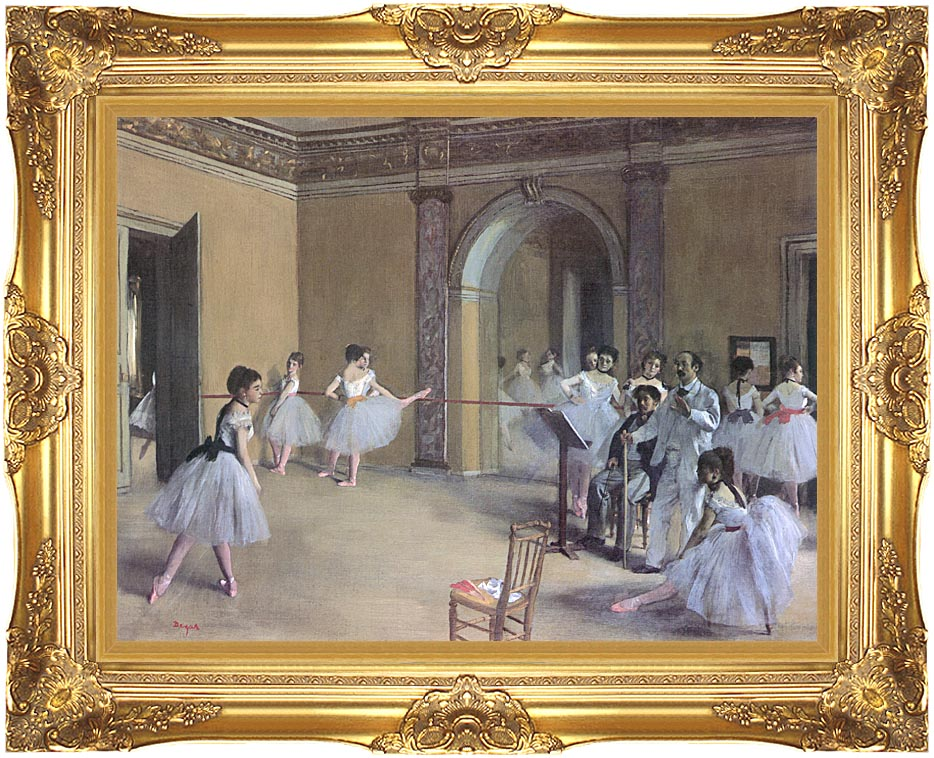 Edgar Degas Dance Foyer at the Opera in the rue Le Peletier with Majestic Gold Frame