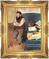 Edgar Degas Diego Martelli canvas with Majestic Gold frame