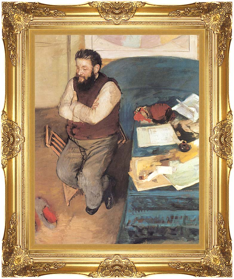 Edgar Degas Diego Martelli with Majestic Gold Frame