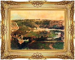Edgar Degas Landscape canvas with Majestic Gold frame