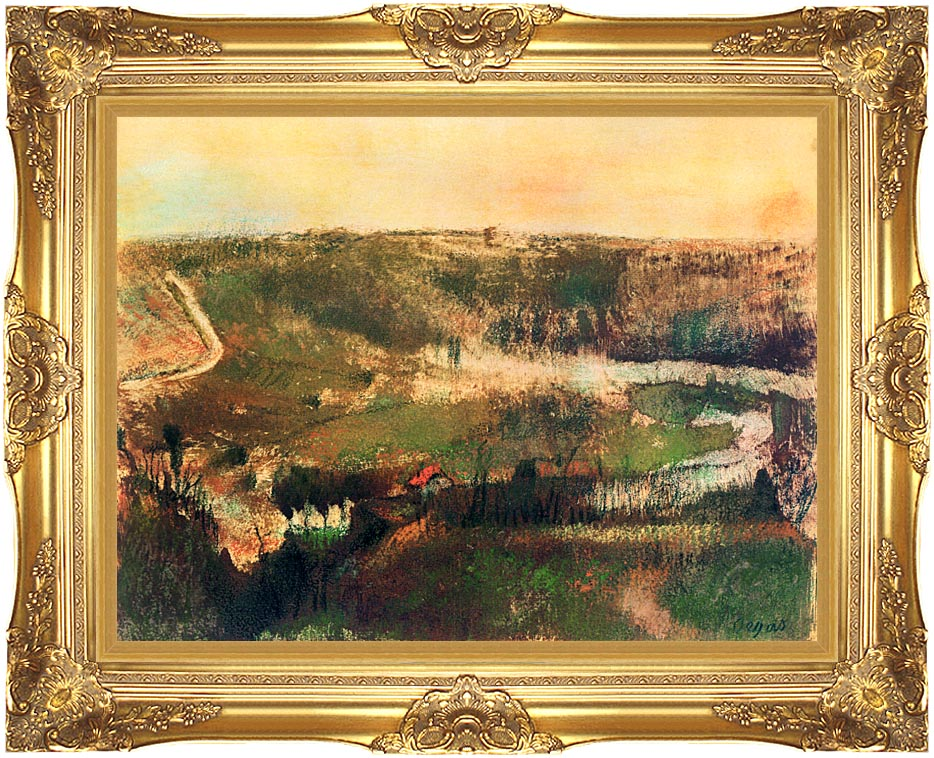 Edgar Degas Landscape with Majestic Gold Frame