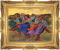 Edgar Degas Russian Dancers canvas with Majestic Gold frame