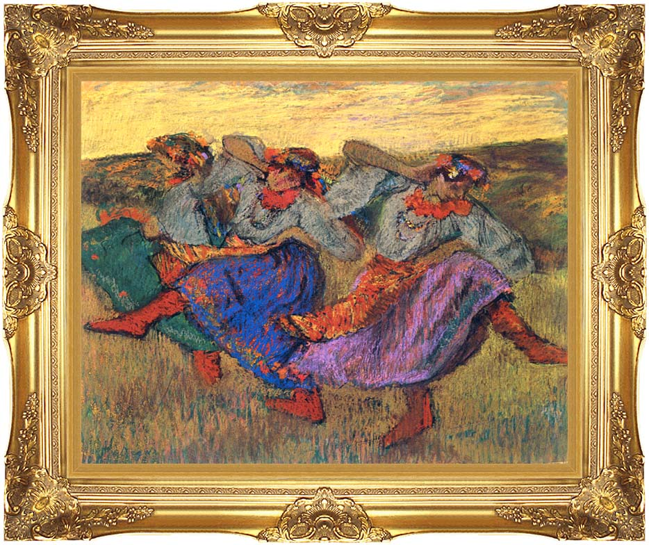 Edgar Degas Russian Dancers with Majestic Gold Frame