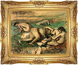 Edgar Degas The Bathers canvas with Majestic Gold frame