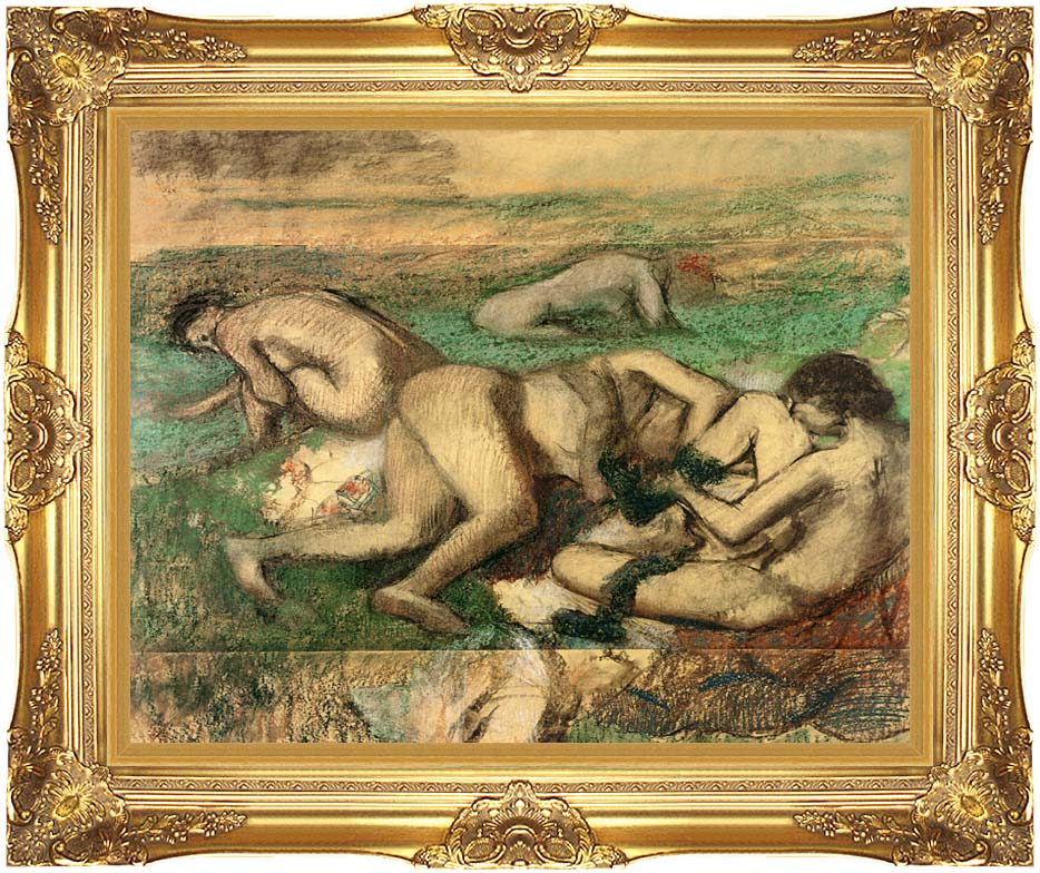 Edgar Degas The Bathers with Majestic Gold Frame