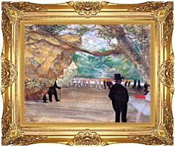 Edgar Degas The Curtain canvas with Majestic Gold frame